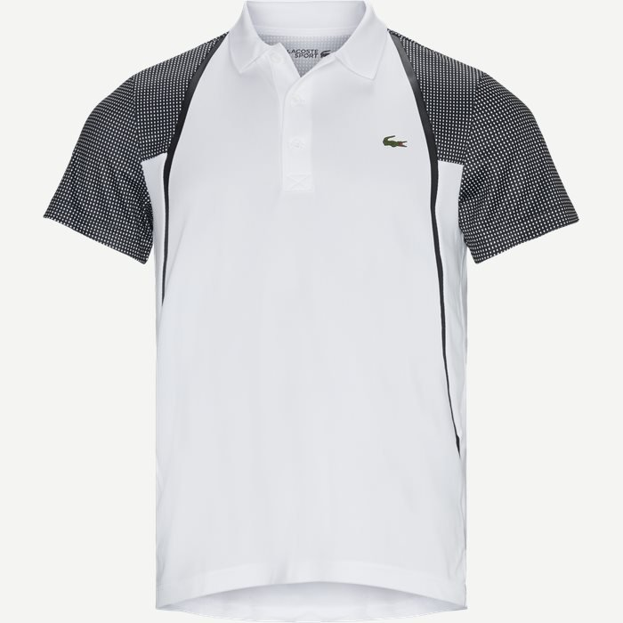 Mesh Sleeved Breathable Tennis Polo Shirt - T-shirts - Regular - Hvid