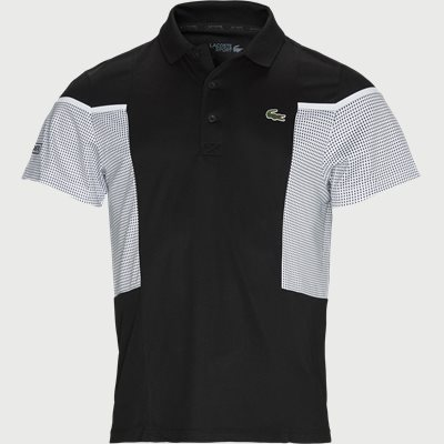 Mesh Panel Breathable Tennis Polo Shirt Regular | Mesh Panel Breathable Tennis Polo Shirt | Sort