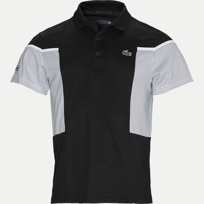 Mesh Panel Breathable Tennis Polo Shirt