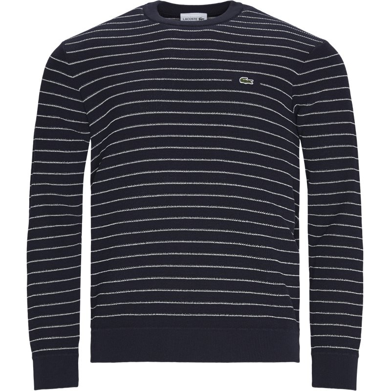 Image of   Lacoste - Striped Textured Cotton Sweater