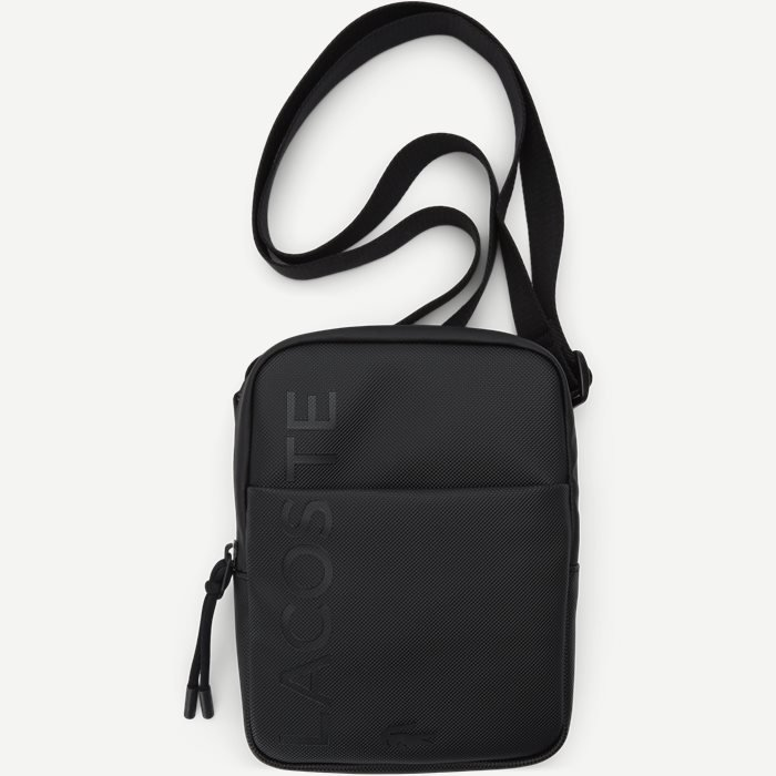 Branded Zippered Small Flat Bag - Tasker - Sort