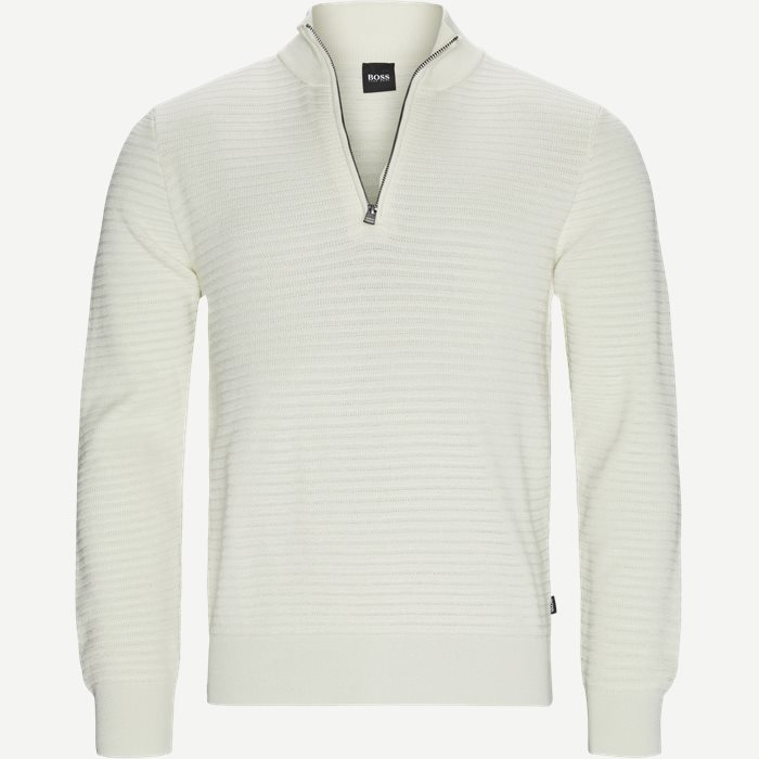 Oro Half-Zip Striktrøje - Strik - Regular - Sand