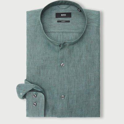 Slim | Hemden | Grün