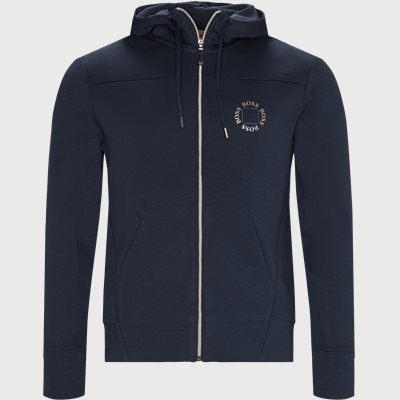 Saggy Circle Zip Sweatshirt Regular | Saggy Circle Zip Sweatshirt | Blå