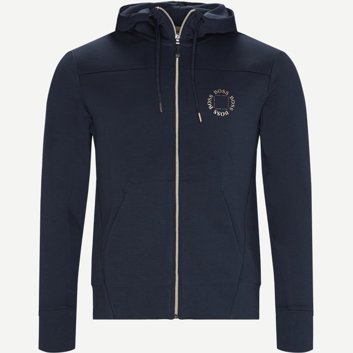 Saggy Circle Zip Sweatshirt - Sweatshirts - Regular - Blå