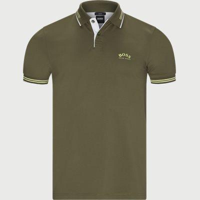 Paul Curved Polo T-shirt Slim | Paul Curved Polo T-shirt | Army