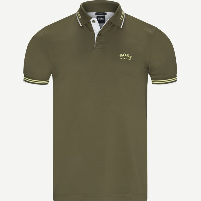 Paul Curved Polo T-shirt - T-shirts - Slim - Army