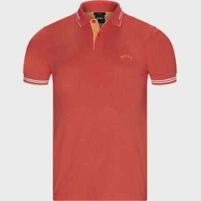 Paul Curved Polo T-shirt Slim | Paul Curved Polo T-shirt | Rød
