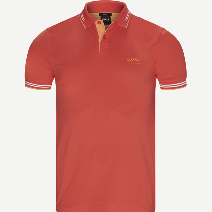 Paul Curved Polo T-shirt - T-shirts - Slim - Rød