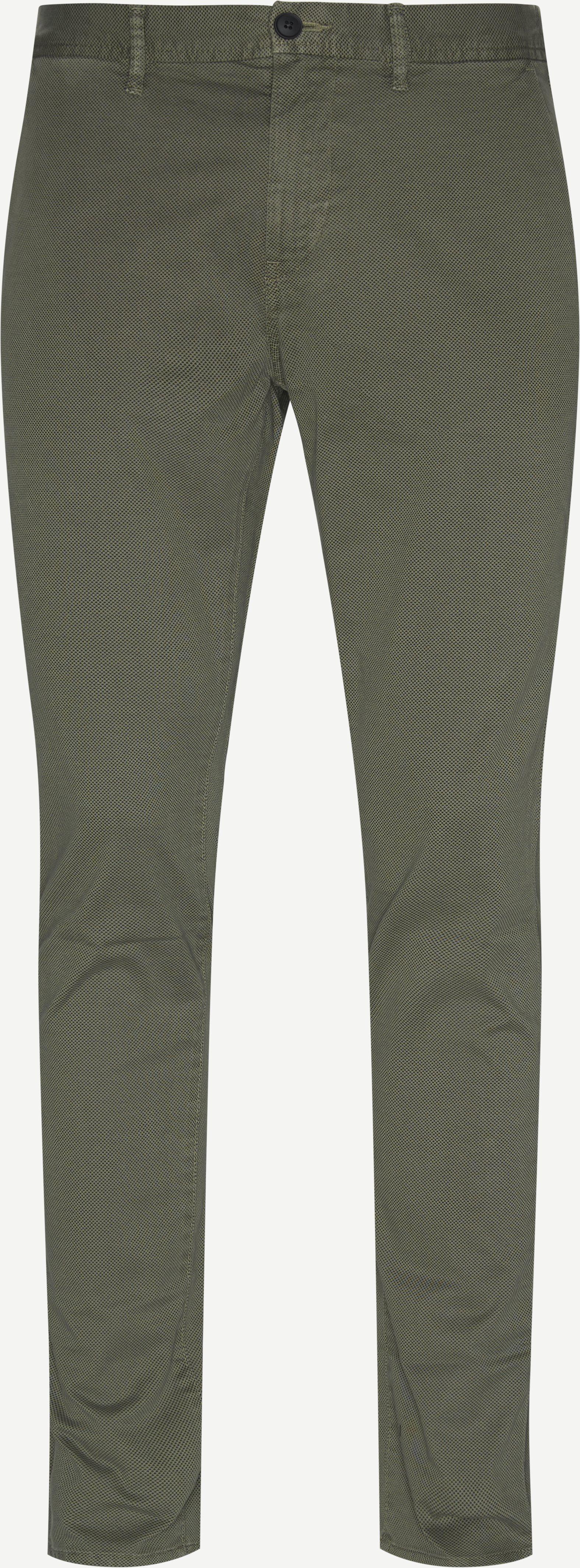 Trousers - Slim - Green