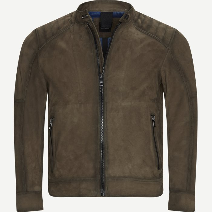 Jetrik Leather Jacket - Jakker - Regular - Brun