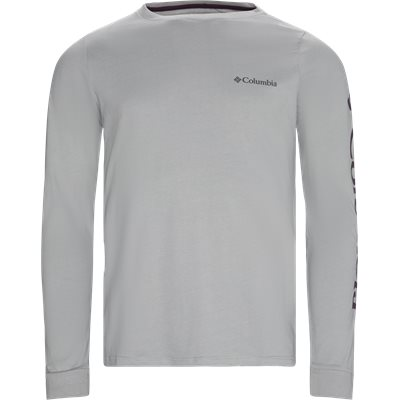 Logde LS Graphic Tee Regular | Logde LS Graphic Tee | Grå