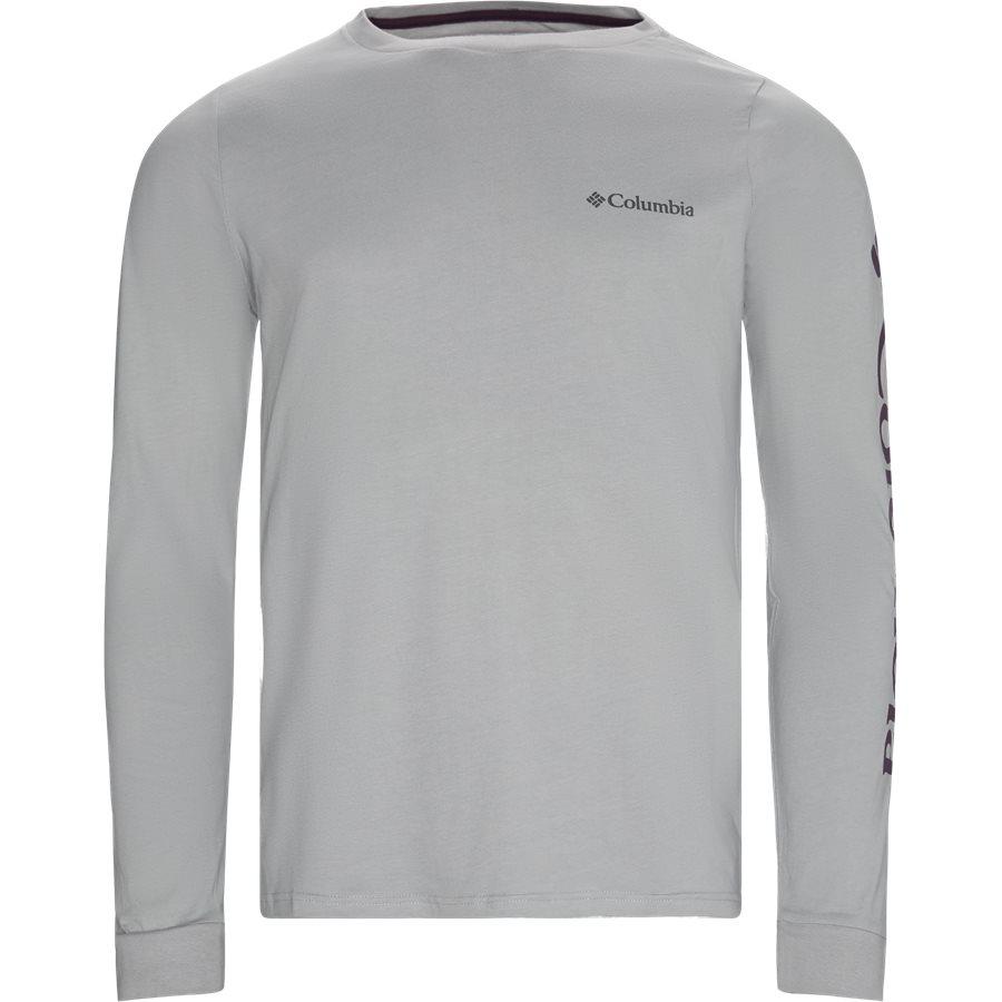 LODGE LS - Logde LS Graphic Tee - T-shirts - Regular - GRAPHITE - 1