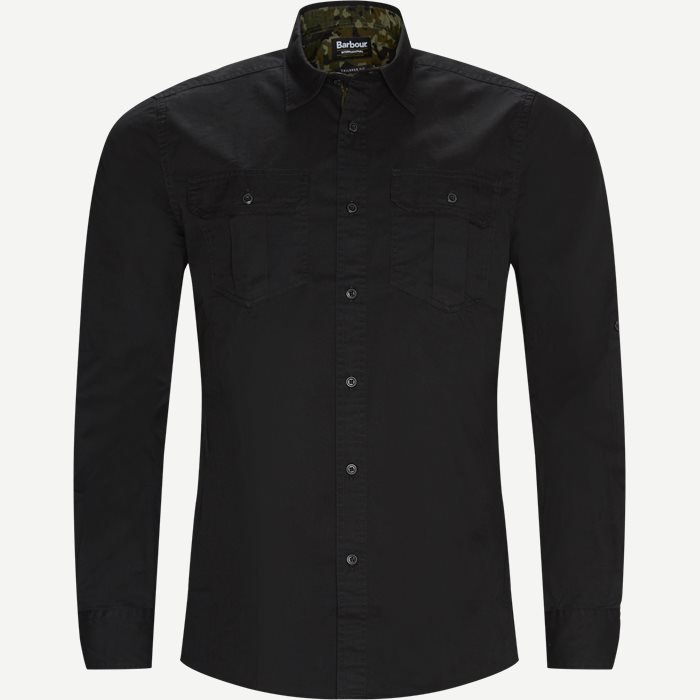 Carving Shirt - Skjorter - Tailored fit - Sort
