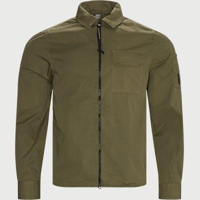 Garbadine Zip-Up Shirt Regular | Garbadine Zip-Up Shirt | Army