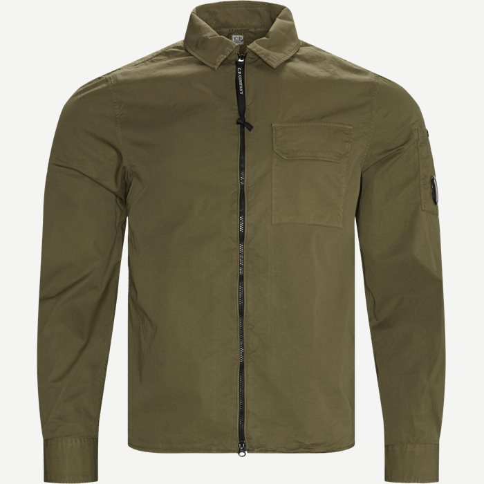 Garbadine Zip-Up Shirt - Skjorter - Regular - Army