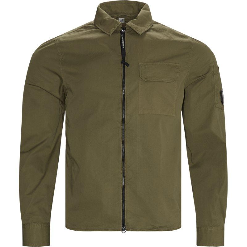 Image of   C.p. Company - Garbadine Zip-Up Shirt