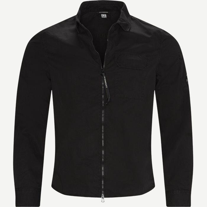 Garbadine Zip-Up Shirt - Skjorter - Regular - Sort
