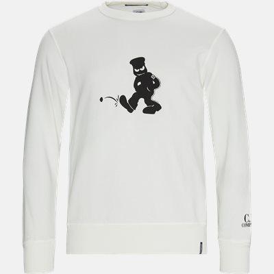 Comics And Cars Crew Neck Sweatshirt Regular | Comics And Cars Crew Neck Sweatshirt | Hvid