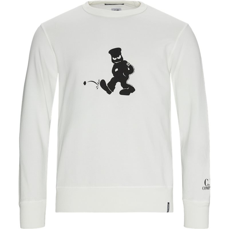 Image of   C.P. Company Comics And Cars Crew Neck Sweatshirt Hvid