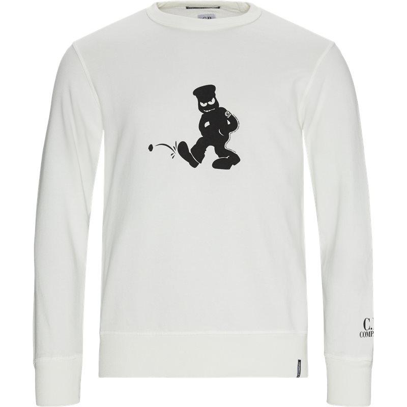 Image of C.P. Company Comics And Cars Crew Neck Sweatshirt Hvid