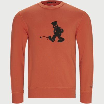 Comics And Cars Crew Neck Sweatshirt Regular | Comics And Cars Crew Neck Sweatshirt | Orange
