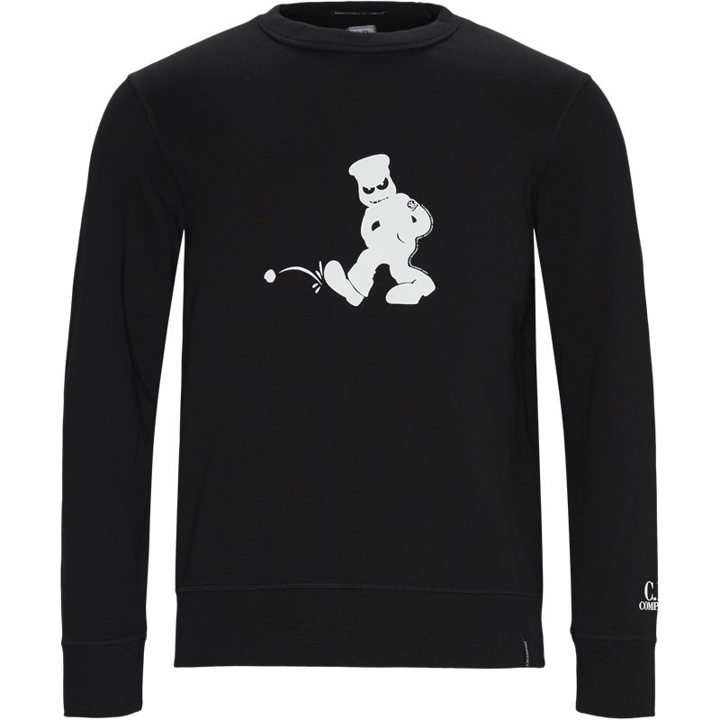 Image of   C.P. Company Comics And Cars Crew Neck Sweatshirt Sort