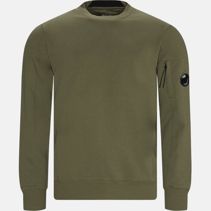 Lens Logo Crew Neck Sweatshirt - Sweatshirts - Regular - Army