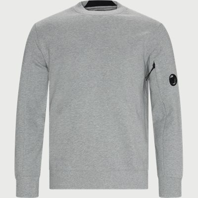 Lens Logo Crew Neck Sweatshirt Regular | Lens Logo Crew Neck Sweatshirt | Grå