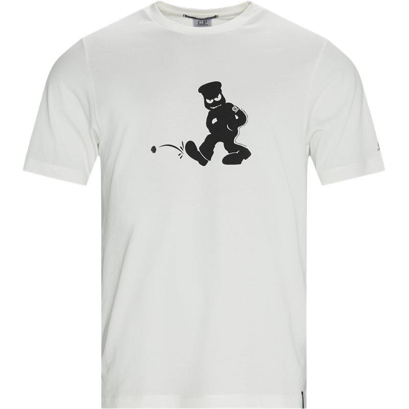 Image of   C.P. Company Logo T-shirt Hvid