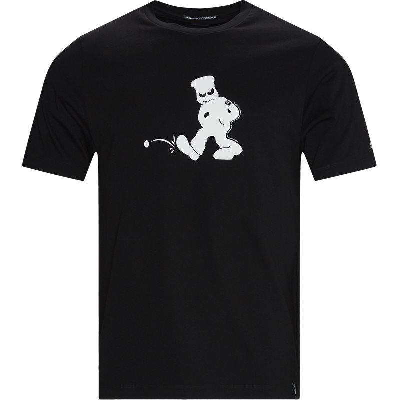 Image of C.P. Company Logo T-shirt Sort