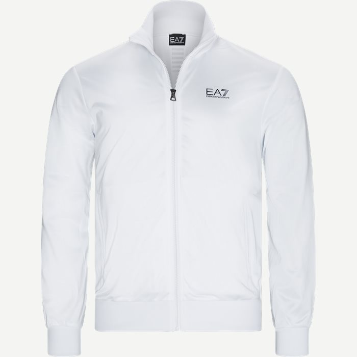 Track Jacket - Sweatshirts - Regular - Hvid
