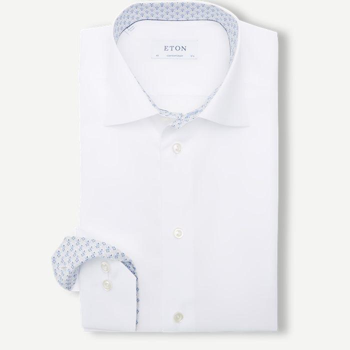 2567 Poplin Skjorte - Skjorter - Hvid