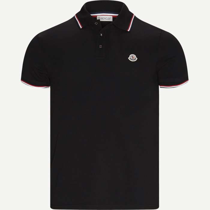 Maglia Polo Manica T-shirt - T-shirts - Regular - Sort