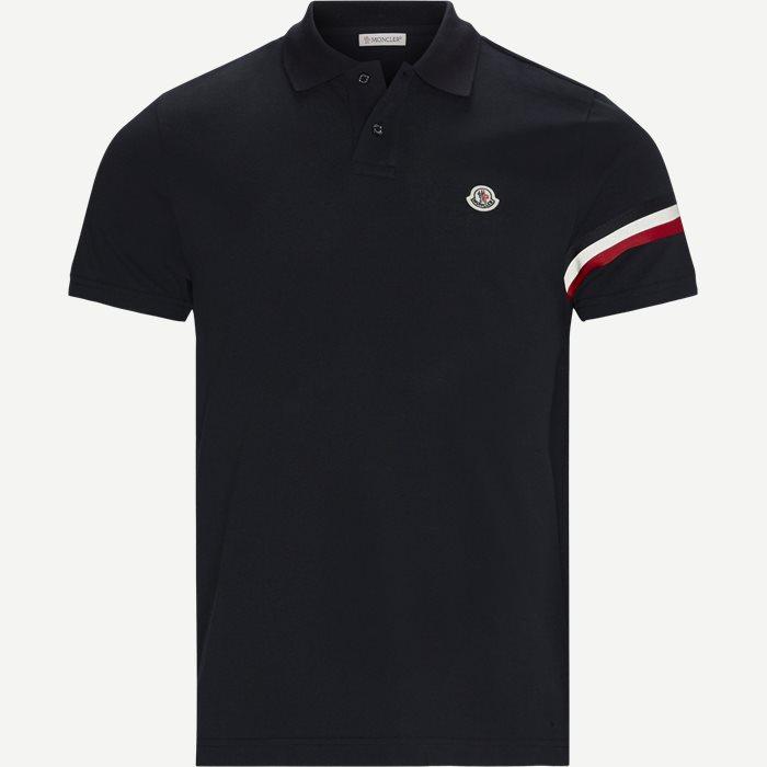 Maglia Polo Manica C T-shirt - T-shirts - Regular - Blå
