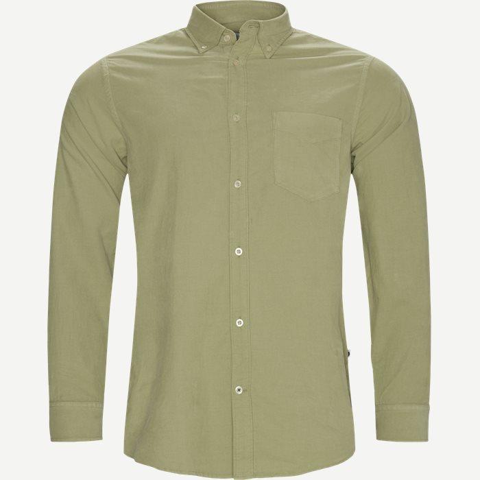Levon Skjorte - Skjorter - Regular - Grøn
