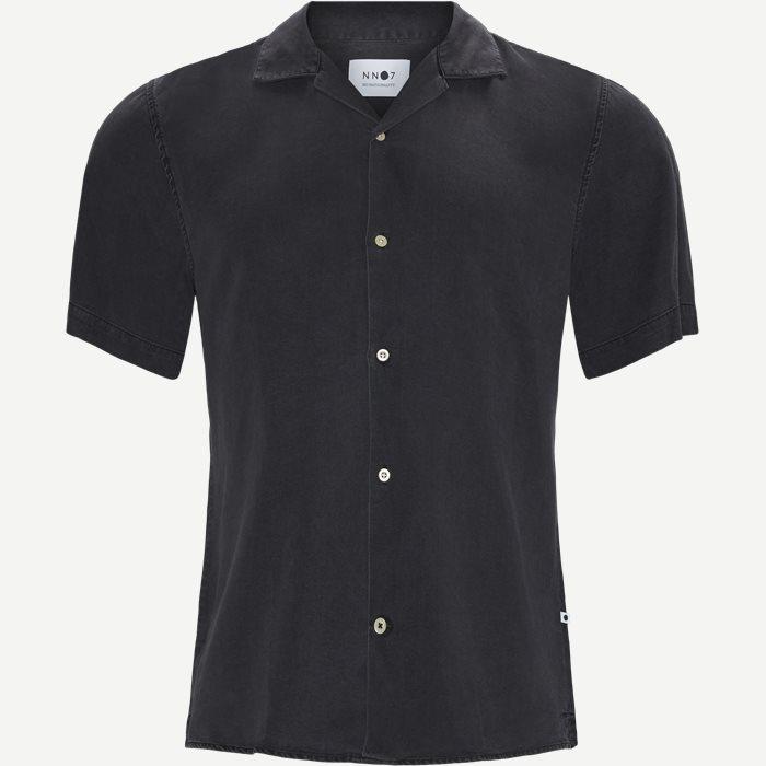 Miyagi Kortærmet Skjorte - Kortærmede skjorter - Regular - Grå