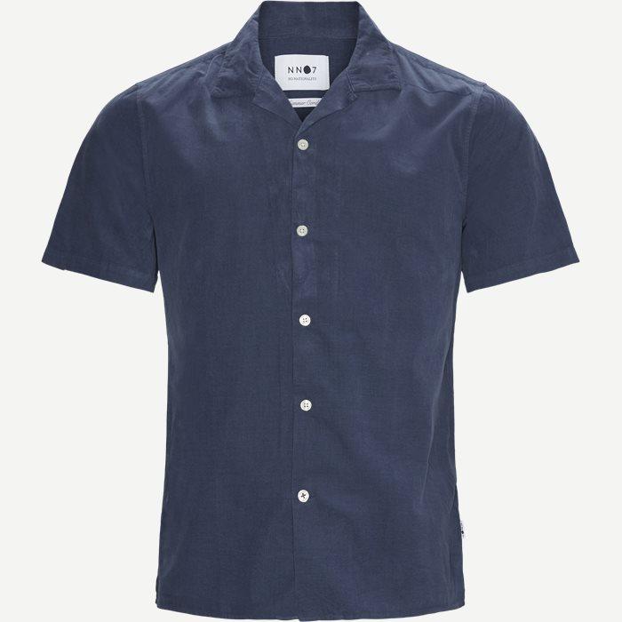 Miyagi Kortærmet Skjorte - Kortærmede skjorter - Regular - Blå