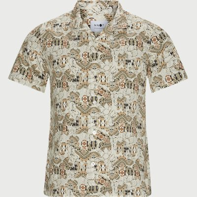 Miyagi Kortærmet Skjorte Regular | Miyagi Kortærmet Skjorte | Sand