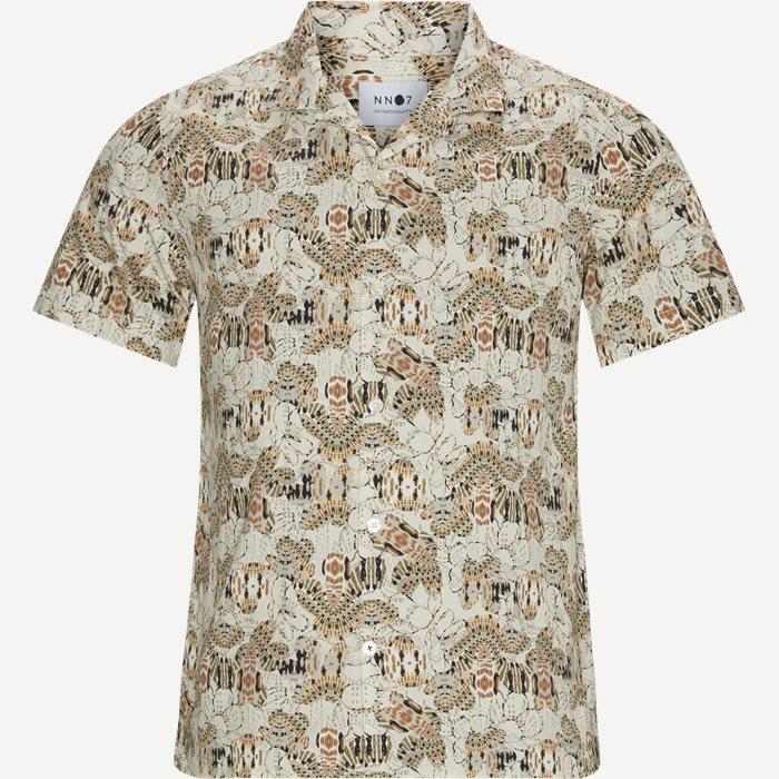 Kortärmade skjortor - Regular - Sand