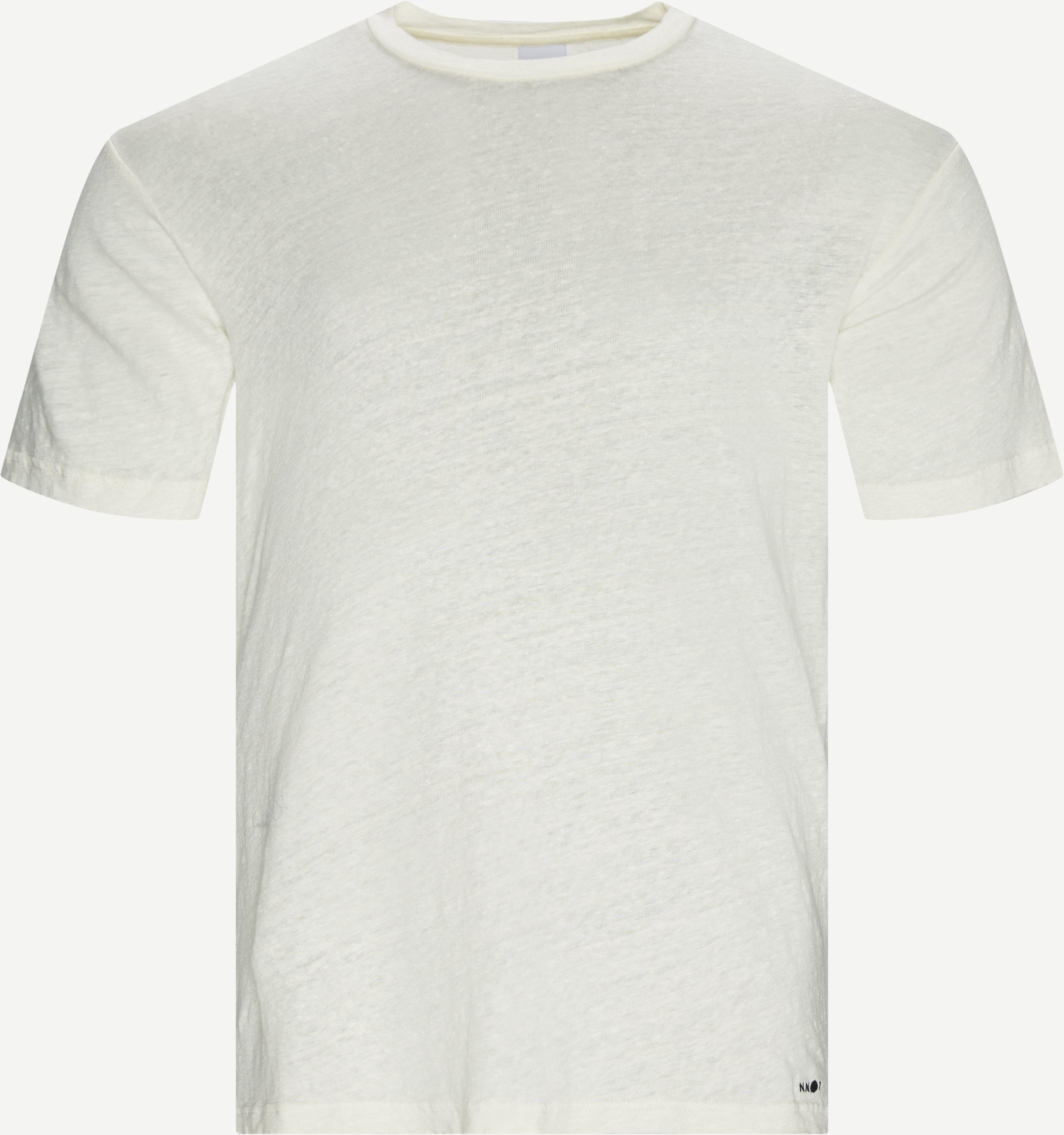 Dylan Tee - T-shirts - Regular fit - Hvid