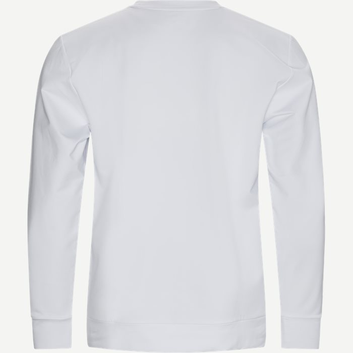 Reflective Shark Crewneck Sweatshirt - Sweatshirts - Regular - Hvid
