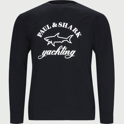 Reflective Shark Crewneck Sweatshirt Regular | Reflective Shark Crewneck Sweatshirt | Blå