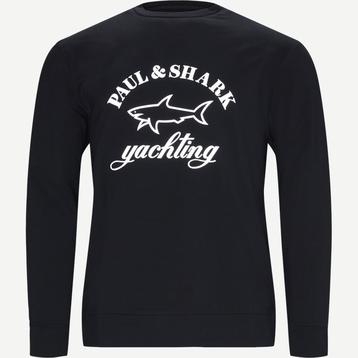 Reflective Shark Crewneck Sweatshirt - Sweatshirts - Regular - Blå