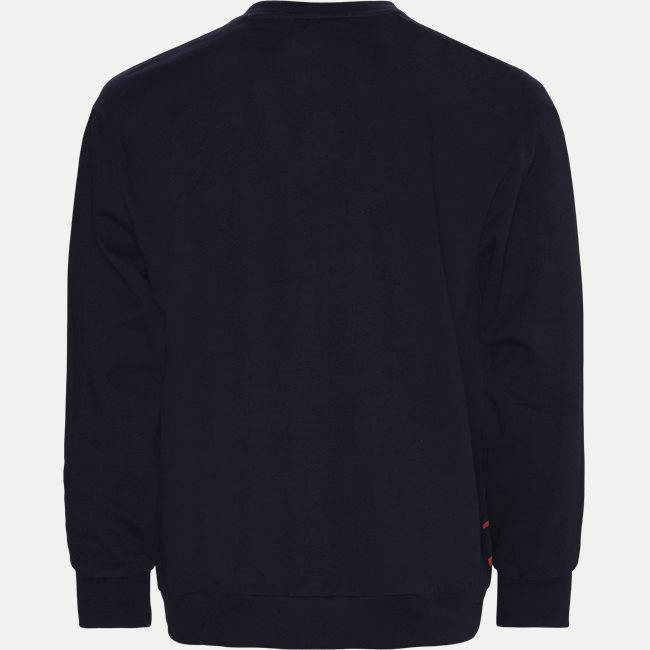 Organic Cotton Three Colours Logo Crewneck Sweatshirt