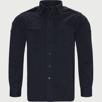 Cotton Overshirt Classic fit | Cotton Overshirt | Blå