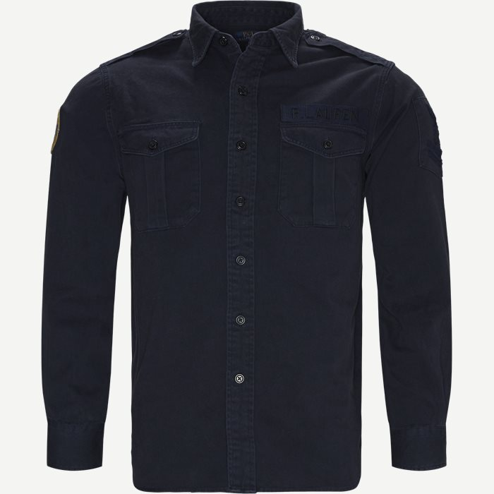 Cotton Overshirt - Skjorter - Classic fit - Blå