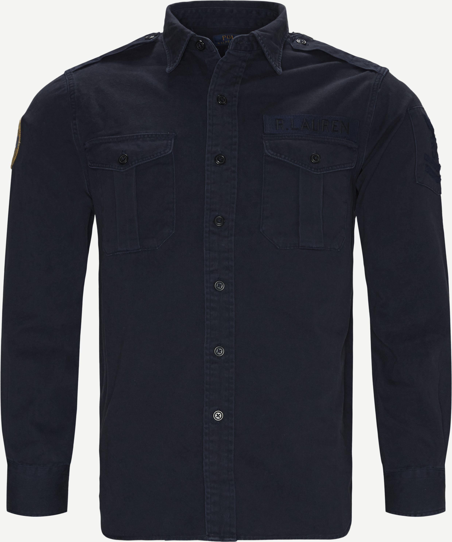 Cotton Overshirt - Skjorter - Classic fit - Blå