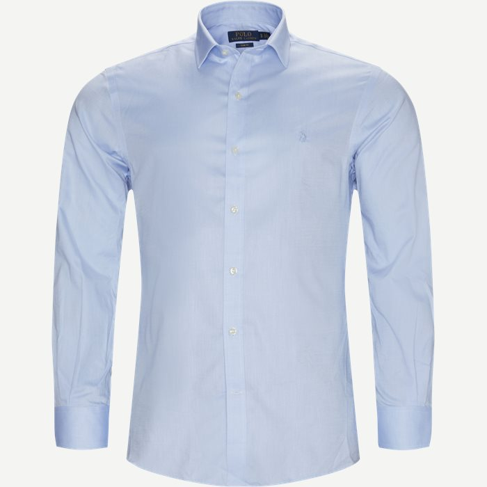 Cotton Shirt - Skjorter - Slim - Blå
