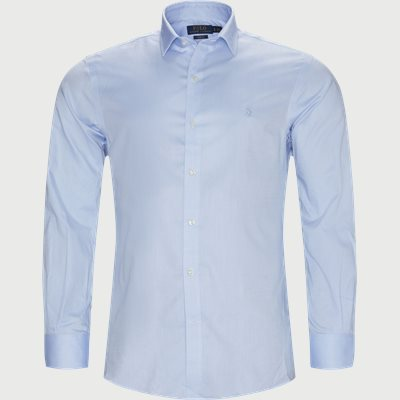 Cotton Shirt Slim | Cotton Shirt | Blå